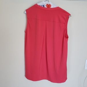 Fever Tops - Size S salmon/pink colored deep V-neck blouse